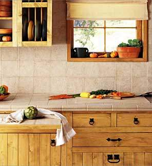Ceramic tile countertops are a great, cost-effective alternative