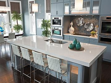 Kitchen Countertops Quartz Vs Granite kitchen countertops: granite vs. quartz