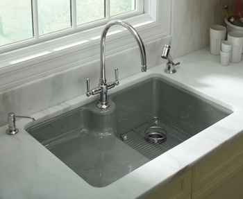Beauty and Function With the Kohler Carrizo™ Cast Iron Sink