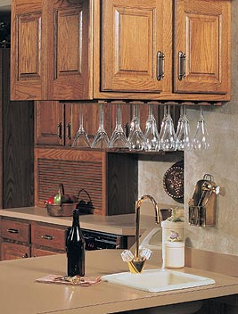 Kitchen Cabinet With Glass Holder